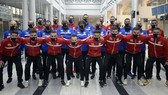 Đội tuyển futsal Lebanon đã có mặt tại UAE mà thiếu vắng ala Ahmed Khair El-Din. Ảnh: LFA