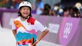 VĐV 13 tuổi Momiji Nishiya giành chiến thắng tại nội dung trượt ván đường phố nữ. Ảnh: REUTERS