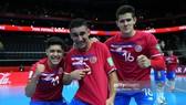 Niềm vui của các cầu thủ Costa Rica khi đánh bại chủ nhà Lithuania ở trận đấu quan trọng. Ảnh: GETTY