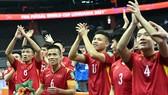 Đội tuyển Việt Nam có lần thứ 2 liên tiếp lọt vào vòng 1/8 Futsal World Cup. ẢNH: QUANG THẮNG