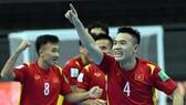 Đoàn Phát ăn mừng bàn thắng vào lưới CH Czech. Ảnh: VFF