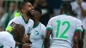 Niềm vui thắng trận của các cầu thủ Saudi Arabia. Ảnh: AFC