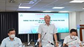 Đồng chí Phan Nguyễn Như Khuê trả lời báo chí trong buổi Họp báo thông tin về việc Đại biểu Quốc hội Phạm Phú Quốc có 2 quốc tịch. Ảnh: VIỆT DŨNG