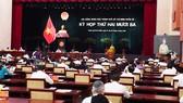 Toàn cảnh phiên khai mạc kỳ họp 23 của HĐND TPHCM khóa IX. Ảnh: VIỆT DŨNG