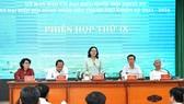 Đồng chí Nguyễn Thị Lệ, Phó Bí thư Thành ủy, Chủ tịch HĐND TPHCM phát biểu tại phiên họp. Ảnh: VIỆT DŨNG