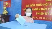 Chủ tịch Ủy ban Bầu cử TPHCM Nguyễn Thị Lệ: 99,38% cử tri đi bỏ phiếu, bầu cử an toàn và thành công