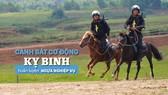 Cảnh sát cơ động Kỵ binh huấn luyện ngựa nghiệp vụ