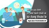 Một số quy định xử phạt hành chính về sử dụng thuốc lá