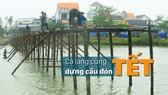 Cả làng cùng dựng cầu đón tết