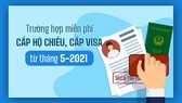 Trường hợp miễn phí cấp hộ chiếu, cấp visa từ 22-5-2021