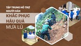 Tập trung hỗ trợ người dân miền Trung khắc phục hậu quả mưa lũ