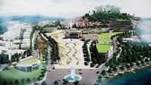 Phối cảnh một góc khu trung tâm Hòa Bình, nhìn từ trục trung tâm