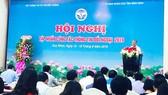 Thứ trưởng Bộ TT-TT Nguyễn Thành Hưng phát biểu tại hội nghị.
