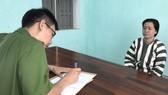 Châu Thị Mỹ Hiệp tại cơ quan Công an tỉnh Bình Định. Ảnh: TẤN TÀI