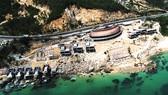 Thanh tra Sở Xây dựng kiểm tra phát hiện khu resort Ami Resort & Spa xây dựng sai thiết kế. Ảnh: DŨNG NHÂN