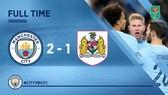 Man City - Bristol City 2-1 (lượt đi): Sergio Aguero tỏa sáng phút bù giờ