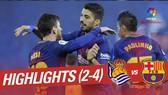 Real Sociedad - Barcelona 2-4: Suarez cú đúp, Messi, Paulinho góp vui