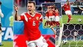 Bảng A, Nga - Ai Cập 3-1: Salah ghi bàn nhưng vẫn bị loại