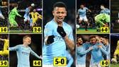 Man City - Burton 9-0: Gabriel Jesus lập poker, De Bruyne, Zinchenko, Foden, Walker, Mahrez góp vui