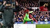 Liverpool - Everton 0-0: Salah kém duyên, HLV Pep Guardiola soán ngôi đầu của Jurgen Klopp