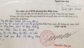Chữ ký của lãnh đạo phường bị làm giả