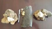 3 mẫu hóa thạch tê giác vừa phát hiện ở bản Yên Hợp, Thượng Hóa, Minh Hóa, Quảng Bình. Ảnh: VQG PN-KN cung cấp