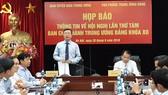 Hình ảnh tại buổi họp báo thông tin về Hội nghị lần thứ 8, Ban Chấp hành Trung ương Đảng khóa XII