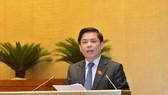 Bộ trưởng Bộ Giao thông Vận tải Nguyễn Văn Thể. Ảnh: VIẾT CHUNG