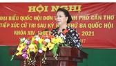 Chủ tịch Quốc hội Nguyễn Thị Kim Ngân tiếp xúc cử tri TP Cần Thơ. Ảnh: HÀM LUÔNG