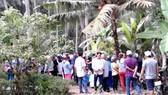 Hiện trường vụ án mạng ở xã Tân Phú tây, huyện Mỏ Cày Bắc, tỉnh Bến Tre. Ảnh: PHAN THANH