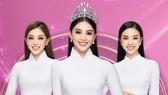 Đương kim Hoa hậu Việt Nam là Trần Tiểu Vy (ở giữa) và hai á hậu