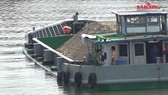 Ghe chở 115 tấn gạo bị chìm xuống sông Hậu