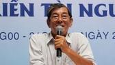 """Kỹ sư Hồ Quang Cua chia sẻ hành trình """"mài giũa"""" ST25 để hạt gạo của Việt Nam được rạng danh thế giới. Ảnh: PHONG LAM"""
