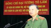 Đại tướng Tô Lâm làm việc với Công an tỉnh An Giang