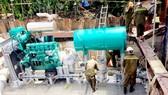 Máy bơm chống ngập đường Nguyễn Hữu Cảnh