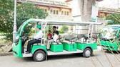 Xe buýt điện tuyến trung tâm TPHCM (ảnh chụp ngày 29-8-2020). Ảnh: CAO THĂNG