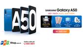 Galaxy A50 với 3 lựa chọn màu sắc: trắng, đen và xanh tại FPT Shop
