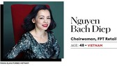 Chủ tịch FPT Retail Nguyễn Bạch Điệp được tôn vinh là một trong 25 nữ doanh nhân quyền lực nhất châu Á do Forbes Asia công bố.