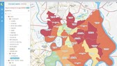 Quản lý dịch Covid-19 TP Thủ Đức qua hệ thống bản đồ GIS