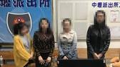 Bốn phụ nữ Việt Nam tới đầu thú lực lượng chức năng tại Đài Loan. Ảnh: Taiwan News