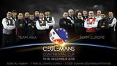 Những khuôn mặt của hai đội tuyển ngôi sao châu Á và châu Âu.