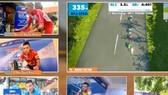 Các tay đua thi đấu trên cung đường ảo của màn hình.