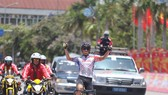 Tay đua trẻ Võ Thanh An một mình lao về đích.