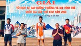 Tay đua Nguyễn Văn Bình trên bục nhận thưởng. Ảnh: Đinh Thanh Long