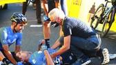 Eduard Prades bị té gãy đốt sống tại Tour de Pologne 2020.