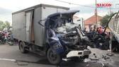 Va chạm 2 xe tải, tài xế tử vong