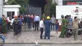 Cháy gara ô tô ở Bình Tân
