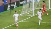 Niềm vui của Anh sau bàn thắng vào lưới Hàn Quốc