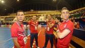 Ban huấn luyện đội tuyển nam futsal Việt Nam. Ảnh: DŨNG PHƯƠNG