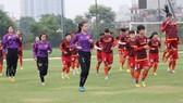 Đội nữ U19 Việt Nam đặt quyết tâm gây bất ngờ tại giải. Ảnh: VFF